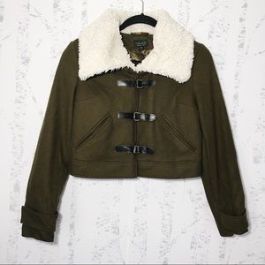 TopShop Khaki Green Cropped Jacket